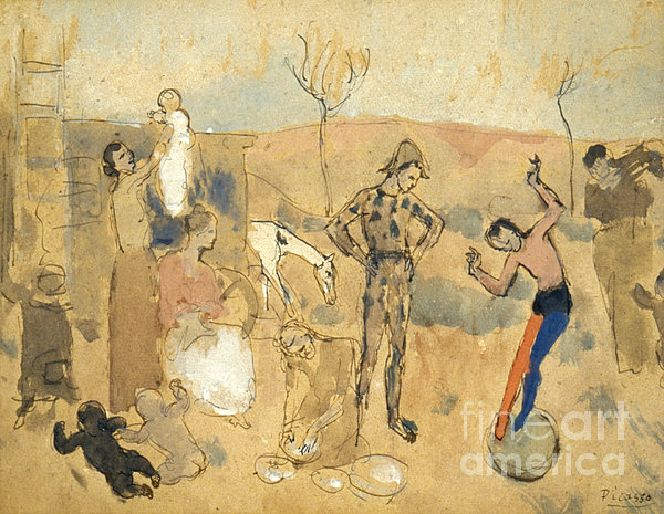 Picasso:circus Family,1905 Print by Granger