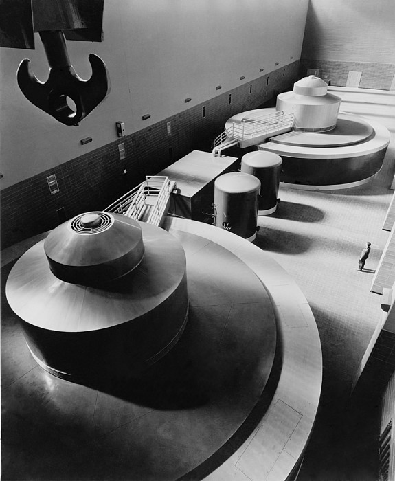 Pickwick Dams First Turbine Generators Print by Everett