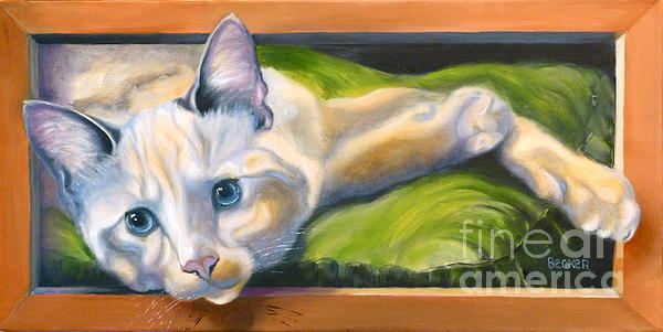 Picture Purrfect Print by Susan A Becker