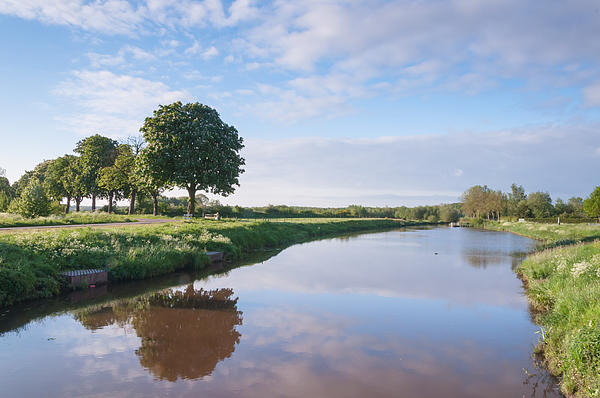 Picturesque Landscape With A Small River Print by Ruud Morijn