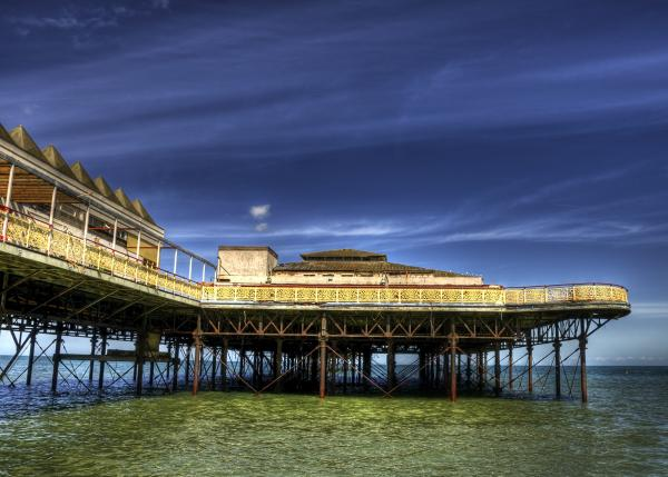 Pier Structure Print by Svetlana Sewell
