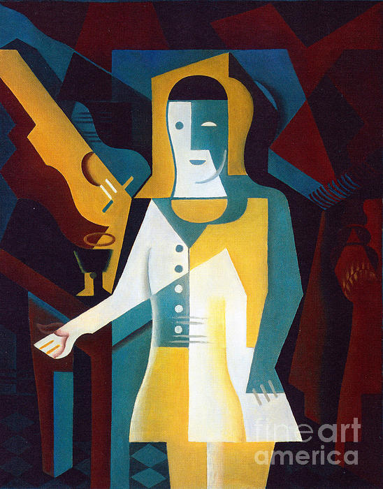 Pierrot Print by Pg Reproductions