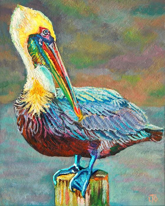 Pile High Pelican Print by Lisa Tygier Diamond