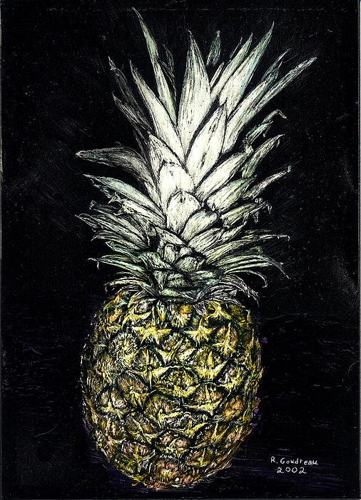 Pineapple Print by Robert Goudreau