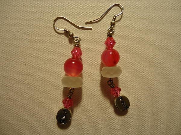 Pink Believer Earrings Print by Jenna Green