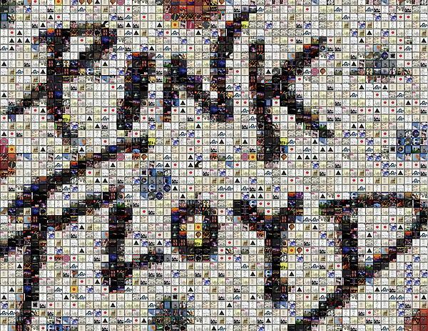 Pink Floyd Albums Mosaic Print by Paul Van Scott