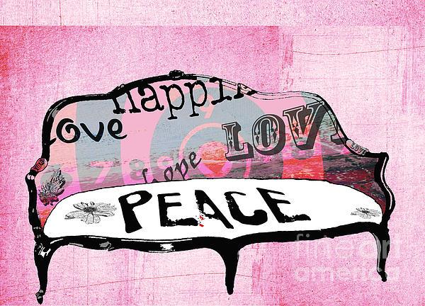Pink Love Chair Print by Anahi DeCanio