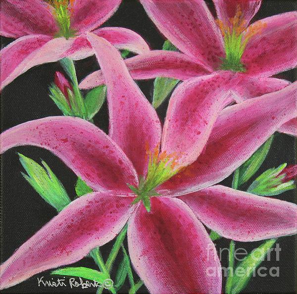 Pink Paradise Print by Kristi Roberts