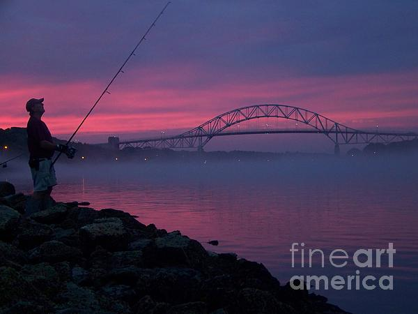 Pink Skies In The Morn Print by John Doble