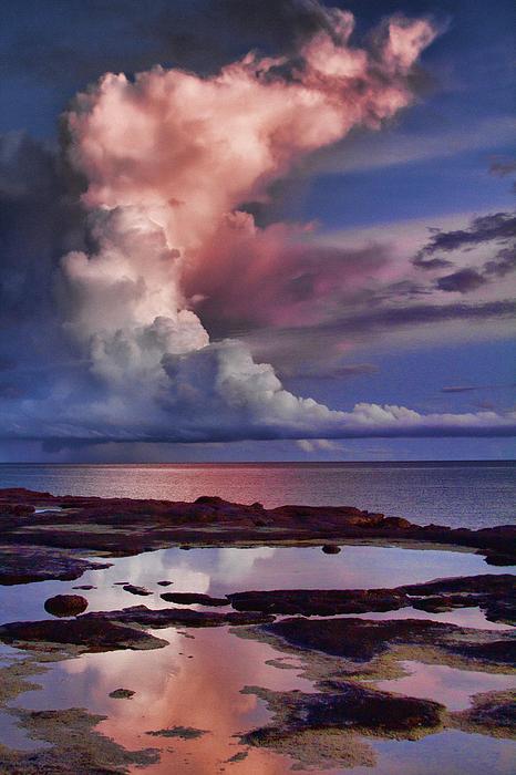 Pink Sky Print by Douglas Barnard