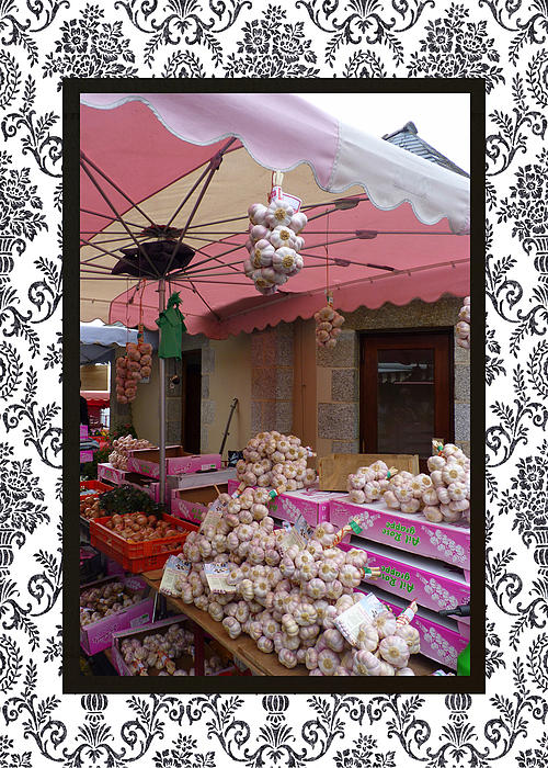 Carla Parris - Pink Umbrella and Garlic with border