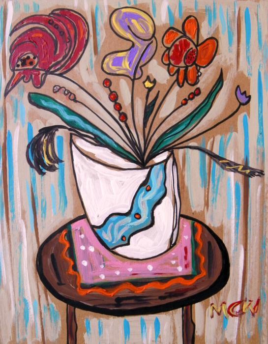 Pink Underneath Print by Mary Carol Williams