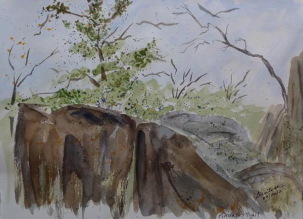 Pinnacle Trail - Sketch Print by Joel Deutsch