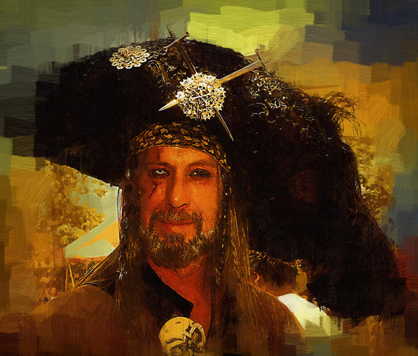 Pirate Print by Clarence Alford