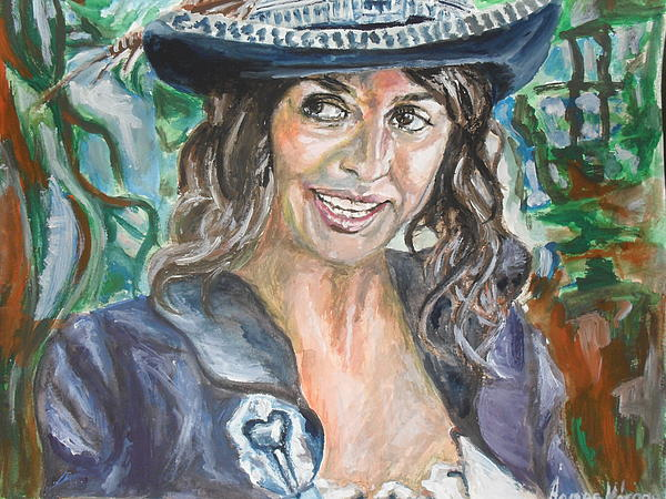 Pirates Of Caribbean Portrait Of Penelope Cruz Print by Agnes V
