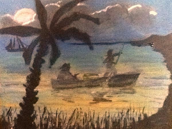 Pirates Trust Print by Richard  Hubal