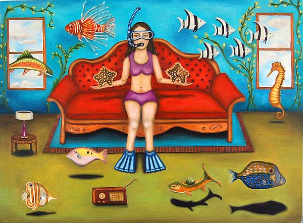 Pisces 3 Print by Leah Saulnier The Painting Maniac