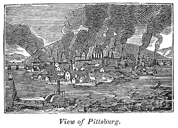 Pittsburgh, 1836 Print by Granger