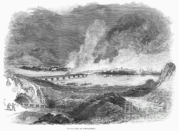 Pittsburgh: Fire, 1845 Print by Granger