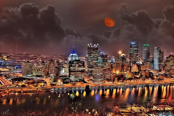 Pittsburgh Night Lights Print by Jason Wilt