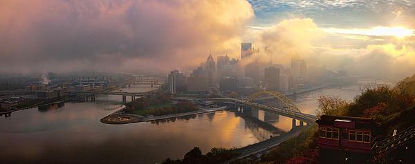 Pittsburgh Pano 2 Print by Emmanuel Panagiotakis