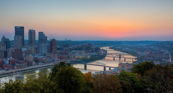 Pittsburgh Pre-dawn Print by David Hahn