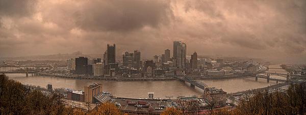 Pittsburgh Skyline 1 Print by Wade Aiken