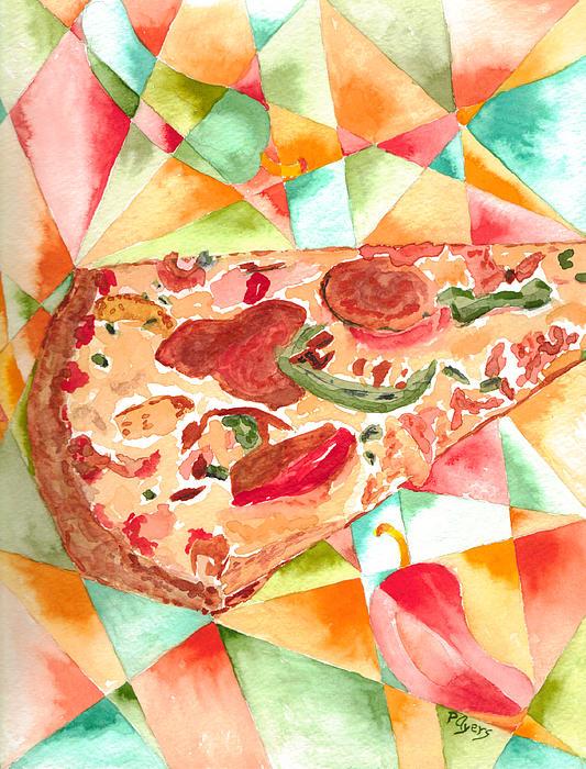 Pizza Pizza Print by Paula Ayers