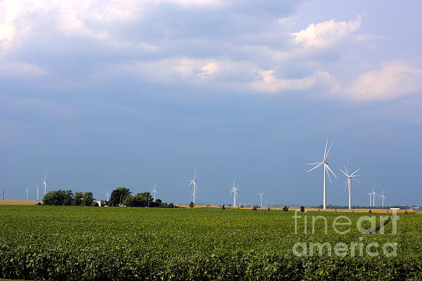 Plains Wind Farm Print by Alan Look