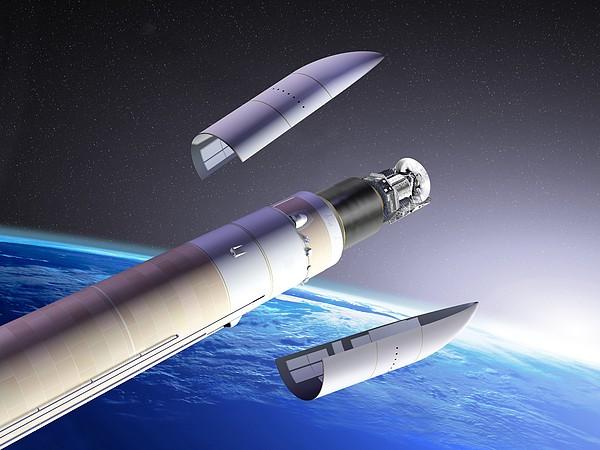Planck And Herschel Launch, Artwork Print by David Ducros