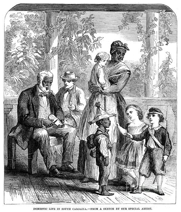 Plantation Life, 1863 Print by Granger