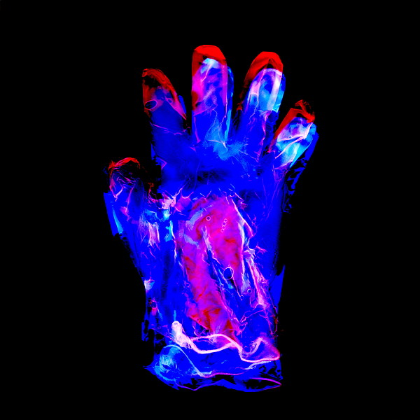 Plastic Glove, Negative Image Print by Kevin Curtis