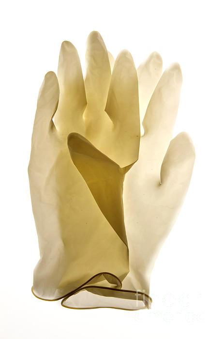 Plastic Gloves Print by Bernard Jaubert