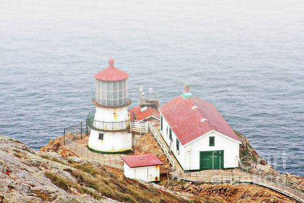 Point Reyes Lighthouse At Point Reyes National Seashore Ca Print by Christine Till