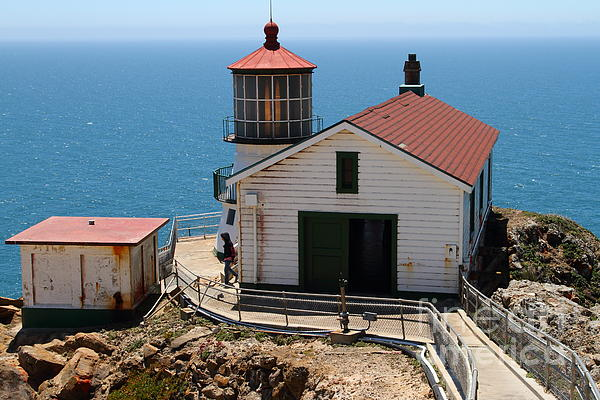 Point Reyes Lighthouse In California 7d15997 Print by Wingsdomain Art and Photography