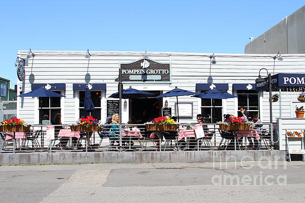Pompeis Grotto Restaurant . Fishermans Wharf . San Francisco California . 7d14197 Print by Wingsdomain Art and Photography