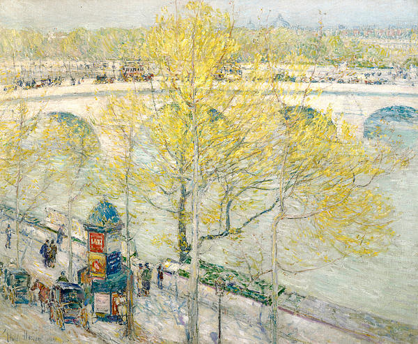 Pont Royal Paris Print by Childe Hassam