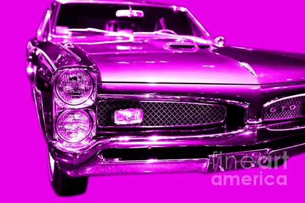 Pontiac Gto Magenta Print by Wingsdomain Art and Photography