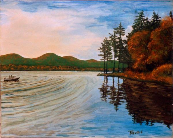 Pittsfield ma painting by william tremble pontoosuc lake pittsfield