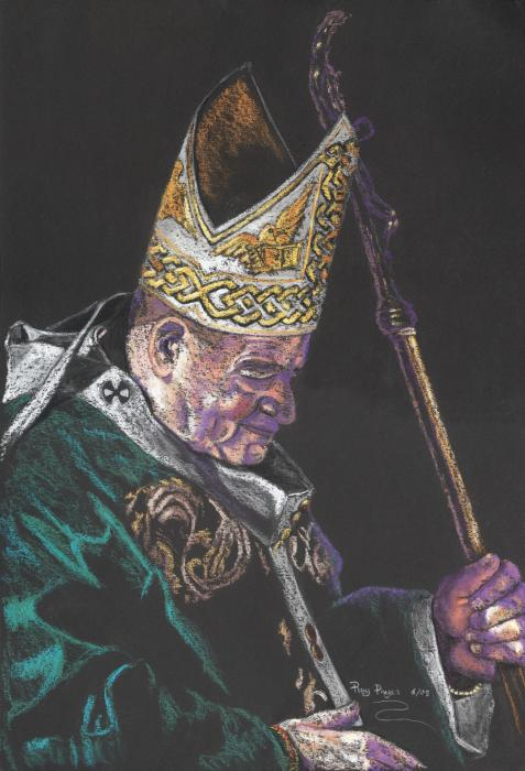 Pope John Paul Painting  - Pope John Paul Fine Art Print