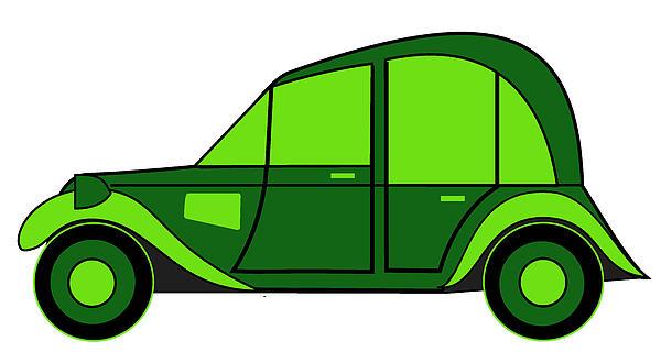 Pope's New Car Print by Asbjorn Lonvig