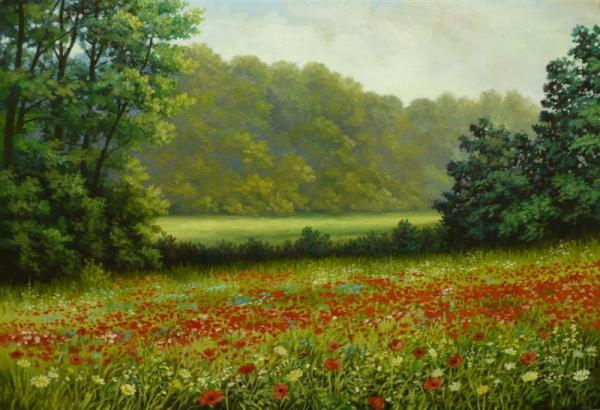 Poppies Field Painting