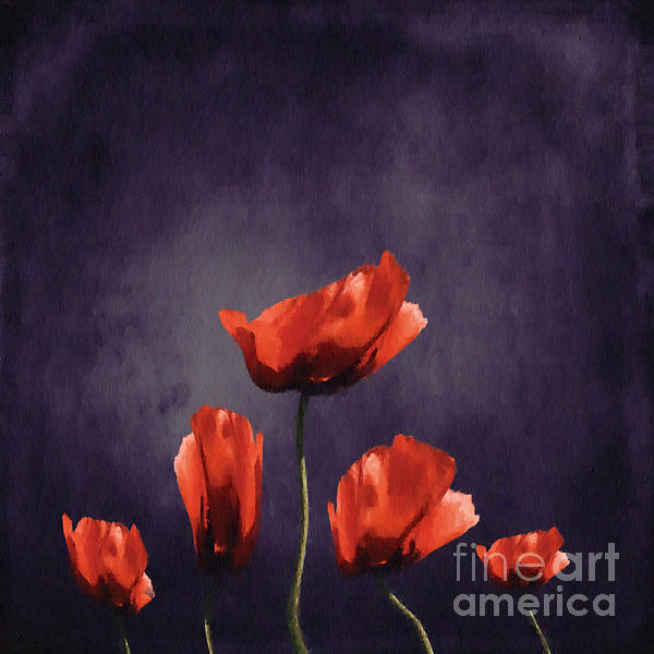 Poppies Fun 03b Print by Variance Collections