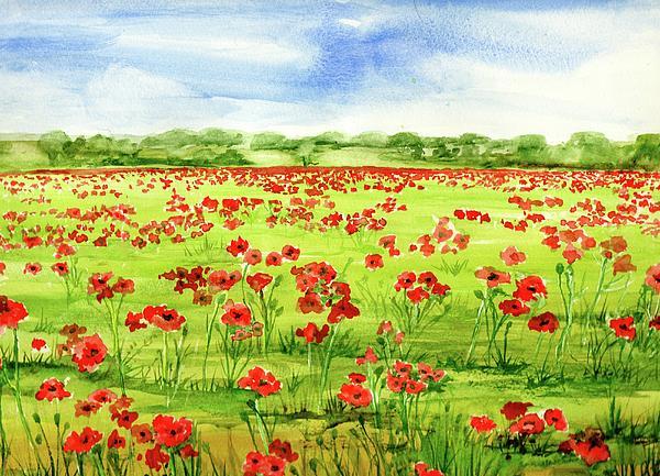 Angelina Whittaker Cook - Poppy Field