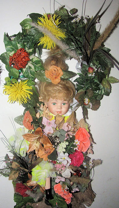 Porcelain Doll Arrangement Print by HollyWood Creation By linda zanini