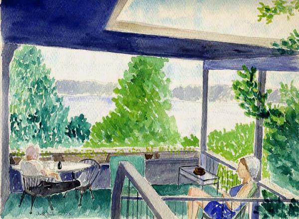 Fred Jinkins - Porch at Lake Travis