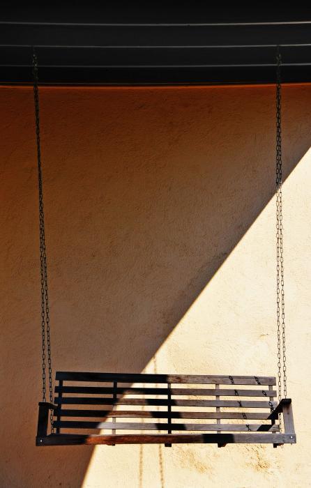 Porch Swing Print by Skip Hunt