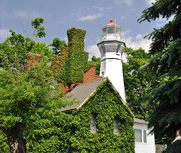 Ginger Harris - Port Sanilac Lighthouse in Late Spring