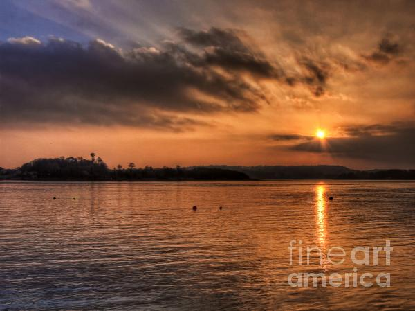 Portaferry Sunset Print by Kim Shatwell-Irishphotographer