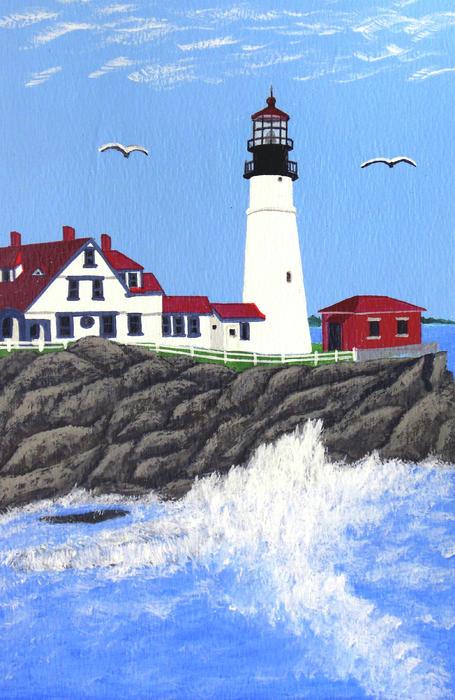 Portland Head Lighthouse Painting Print by Frederic Kohli